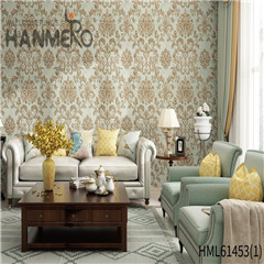 HANMERO Non-woven New Style Bamboo Bronzing European wallpaper for walls decor 0.53*10M Photo studio