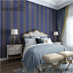 HANMERO Non-woven New Style Bamboo Bronzing European 0.53*10M Photo studio decorative paper wall