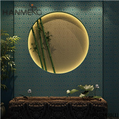 HANMERO Non-woven Affordable Geometric Flocking Modern Home 0.53*10M house wallpaper