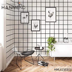 HANMERO Non-woven wallpaper for bedroom Geometric Flocking Modern Home 0.53*10M Affordable