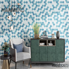 HANMERO Non-woven Affordable Geometric Flocking Modern wallpaper home design 0.53*10M Home
