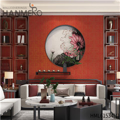HANMERO Non-woven Affordable 0.53*10M Flocking Modern Home Geometric wallpaper photos
