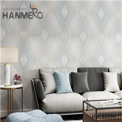 HANMERO Non-woven Affordable Geometric 0.53*10M Modern Home Flocking wallpaper house wall