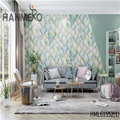 HANMERO Non-woven Affordable Geometric Flocking Modern 0.53*10M Home wallpaper designs for the home