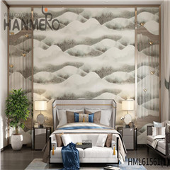 HANMERO Non-woven Affordable Home Flocking Modern Geometric 0.53*10M design wallpaper for walls