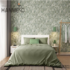 HANMERO Non-woven Affordable Geometric Home Modern Flocking 0.53*10M wallpaper at home