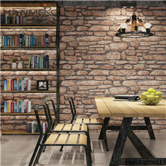 HANMERO PVC Photo Quality kitchen wallpaper ideas Deep Embossed Chinese Style Saloon 0.53*10M Stone