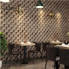 HANMERO 0.53*10M Photo Quality Stone Deep Embossed Chinese Style Saloon PVC wallpaper for interior walls