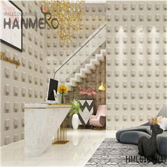 HANMERO PVC Photo Quality Stone Deep Embossed Saloon Chinese Style 0.53*10M wall paper for walls