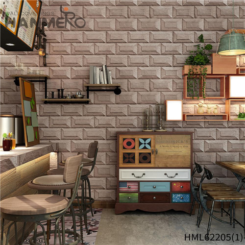 HANMERO PVC 0.53*10M Bamboo Deep Embossed Kids Home Wall Seamless wallpaper bedroom
