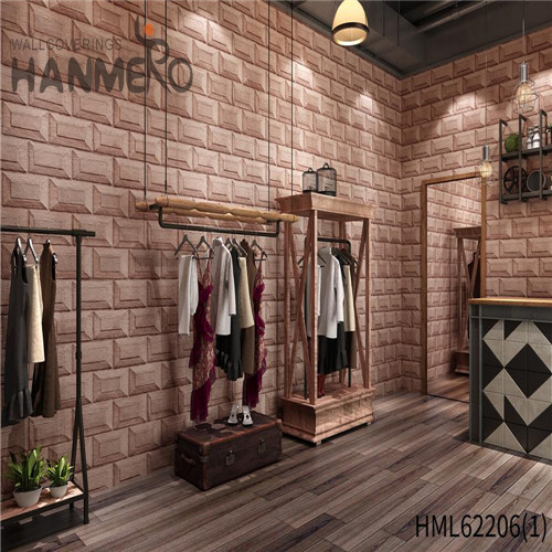HANMERO PVC Seamless 0.53*10M Deep Embossed Kids Home Wall Bamboo wallpaper for homes