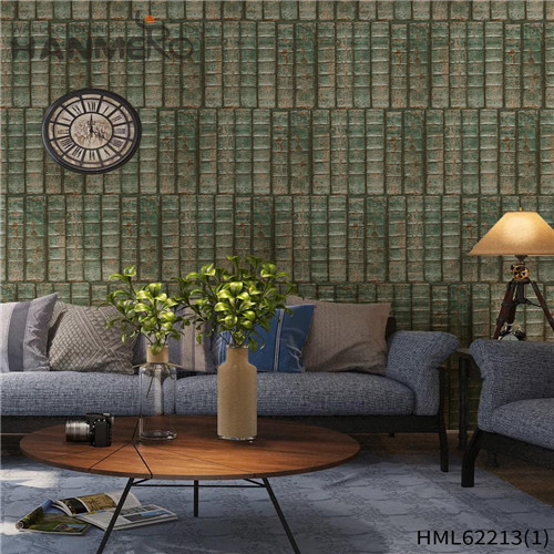HANMERO PVC Seamless Home Wall Deep Embossed Kids Bamboo 0.53*10M the wallpaper store