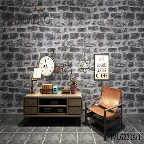 HANMERO PVC Seamless Kids Deep Embossed Bamboo Home Wall 0.53*10M wallpaper on wall of house