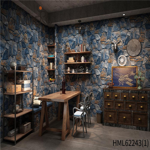 HANMERO Seamless PVC Bamboo 0.53*10M decorative wallpaper for home Home Wall Deep Embossed Kids