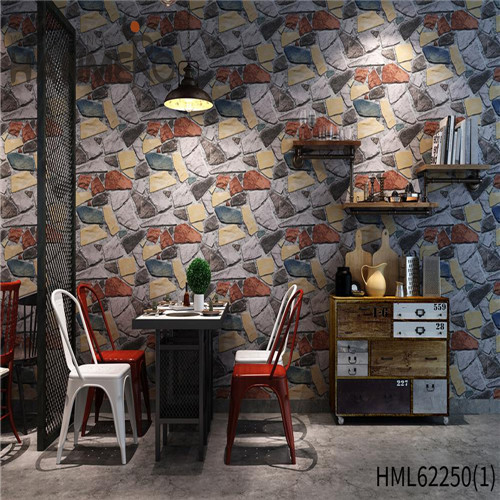 HANMERO Seamless PVC Bamboo Home Wall 0.53*10M cheap prepasted wallpaper Kids Deep Embossed