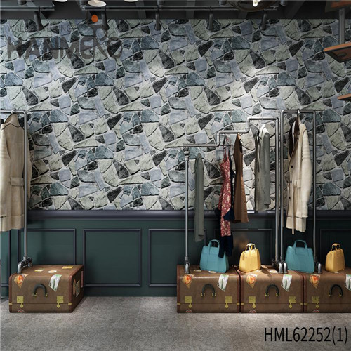 HANMERO Kids Home Wall 0.53*10M fashion wallpaper for home Seamless PVC Bamboo Deep Embossed