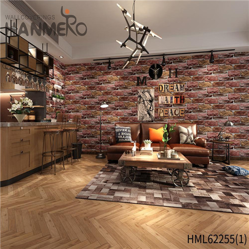 HANMERO Seamless PVC Bamboo Kids Home Wall 0.53*10M at home wallpaper Deep Embossed