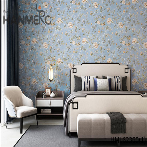 HANMERO Non-woven vintage wallpaper Flowers Flocking Classic Sofa background 0.53*10M Hot Sex
