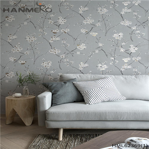 HANMERO Non-woven Hot Sex Flowers 0.53*10M Classic Sofa background Flocking wallpaper online store