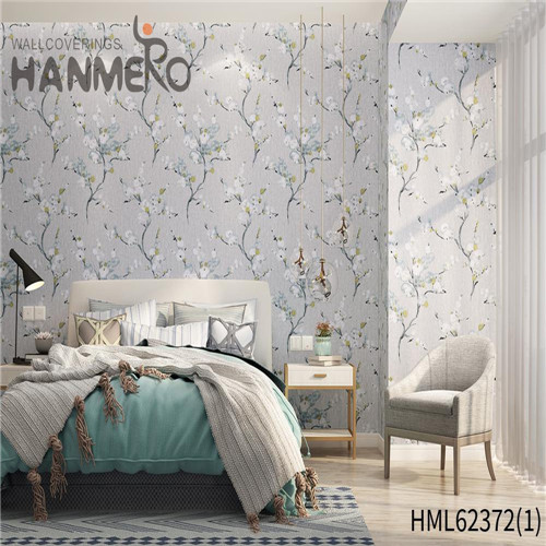 HANMERO Sofa background Hot Sex Flowers Flocking Classic Non-woven 0.53*10M wallpaper price
