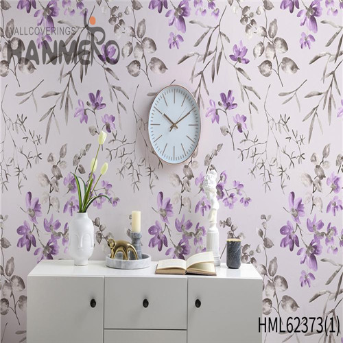 HANMERO Non-woven Sofa background Flowers Flocking Classic Hot Sex 0.53*10M wallpaper coverings