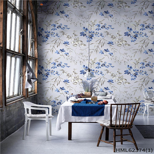 HANMERO Non-woven Hot Sex Sofa background Flocking Classic Flowers 0.53*10M white wallpaper for walls
