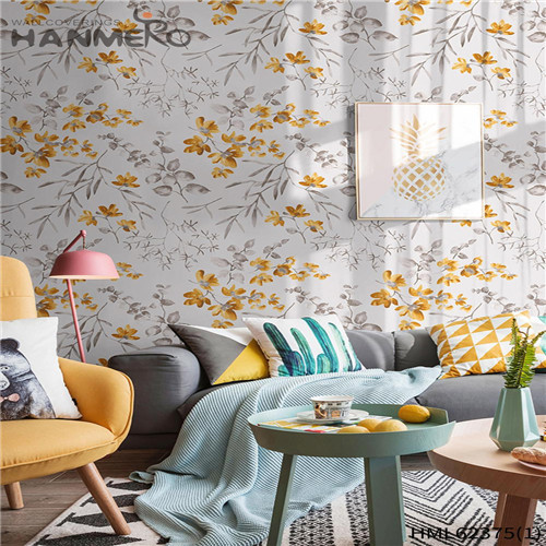 HANMERO Non-woven Hot Sex Flowers Sofa background Classic Flocking 0.53*10M the wallpaper store