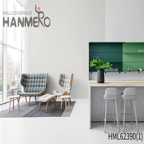 HANMERO Hot Sex Non-woven 0.53*10M cheap wallpaper for walls Classic Sofa background Flowers Flocking