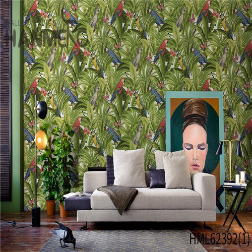 HANMERO Hot Sex Non-woven Flowers Flocking 0.53*10M wallpaper designs for home interiors Classic Sofa background