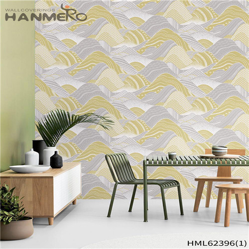 HANMERO Hot Sex Non-woven Sofa background 0.53*10M prepasted wallpaper for sale Flowers Flocking Classic