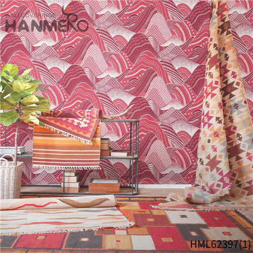 HANMERO Hot Sex Non-woven Flowers Sofa background 0.53*10M wallpaper room decor Classic Flocking