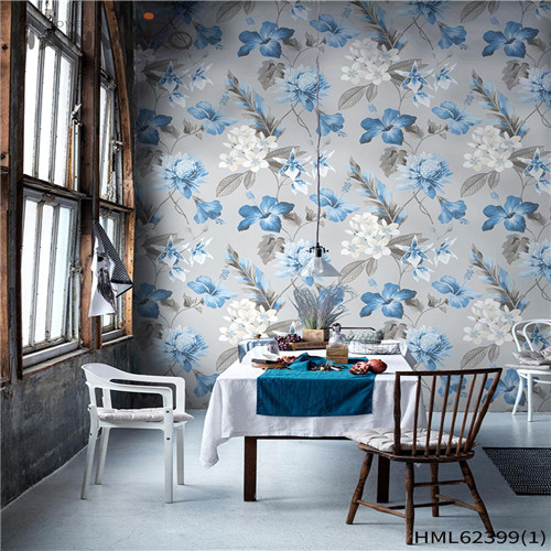 HANMERO Classic Sofa background 0.53*10M decorative wallpaper for home Hot Sex Non-woven Flowers Flocking