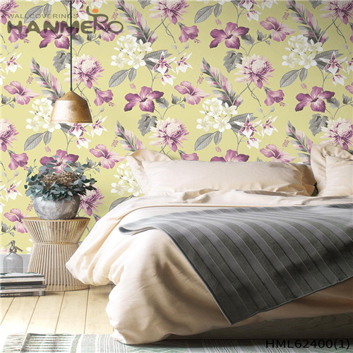 HANMERO Hot Sex Classic Sofa background 0.53*10M interior wallpapers for home Flowers Flocking Non-woven