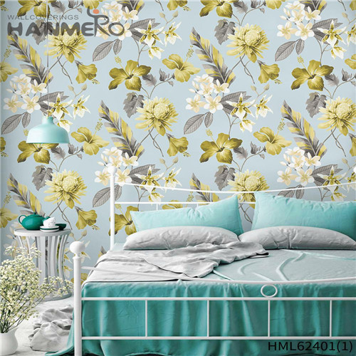 HANMERO Hot Sex Non-woven Classic Sofa background 0.53*10M buy wallpaper border Flowers Flocking