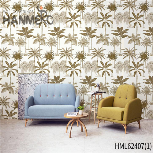 HANMERO Hot Sex Flowers Non-woven Flocking Classic Sofa background 0.53*10M bedroom wallpaper for sale