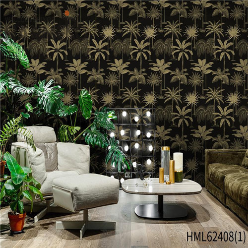 HANMERO wall covering wallpaper Hot Sex Flowers Flocking Classic Sofa background 0.53*10M Non-woven