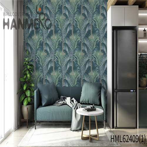 HANMERO wallpaper brands Hot Sex Flowers Flocking Classic Sofa background 0.53*10M Non-woven
