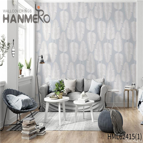HANMERO cheap living room wallpaper Hot Sex Flowers Flocking Classic Sofa background 0.53*10M Non-woven