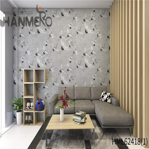 HANMERO where to buy modern wallpaper Hot Sex Flowers Flocking Classic Sofa background 0.53*10M Non-woven