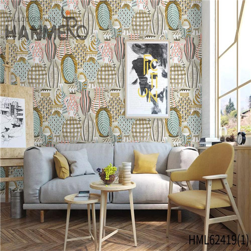 HANMERO wallpaper purchase online Hot Sex Flowers Flocking Classic Sofa background 0.53*10M Non-woven