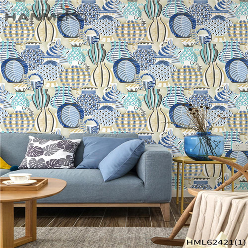 HANMERO shop wallpaper designs Hot Sex Flowers Flocking Classic Sofa background 0.53*10M Non-woven
