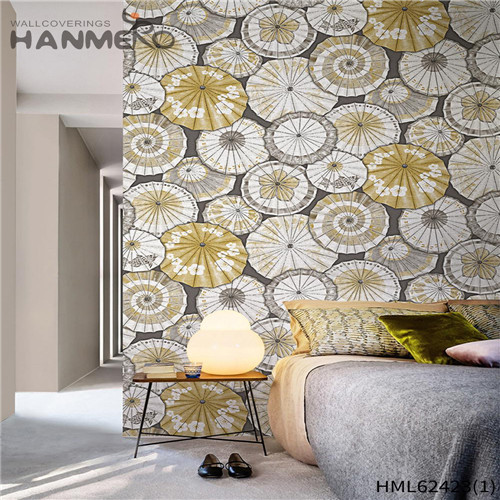 HANMERO temporary walls for sale Hot Sex Flowers Flocking Classic Sofa background 0.53*10M Non-woven