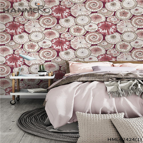 HANMERO wall decorative papers Hot Sex Flowers Flocking Classic Sofa background 0.53*10M Non-woven