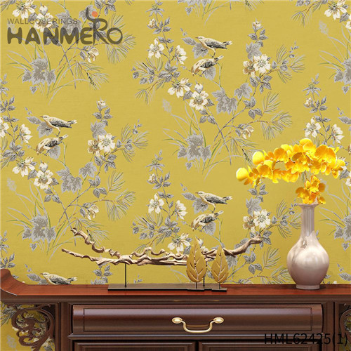 HANMERO wall decoration paper design Hot Sex Flowers Flocking Classic Sofa background 0.53*10M Non-woven