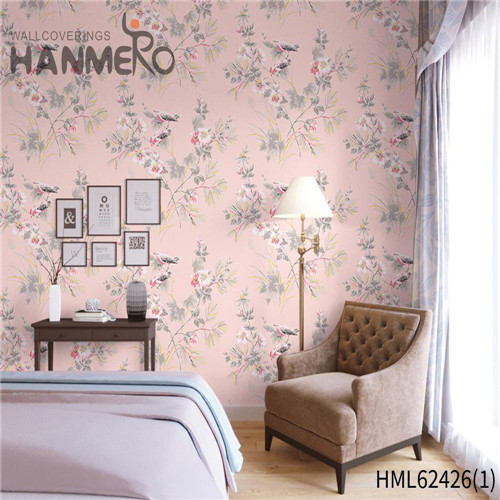 HANMERO room design with wallpaper Hot Sex Flowers Flocking Classic Sofa background 0.53*10M Non-woven