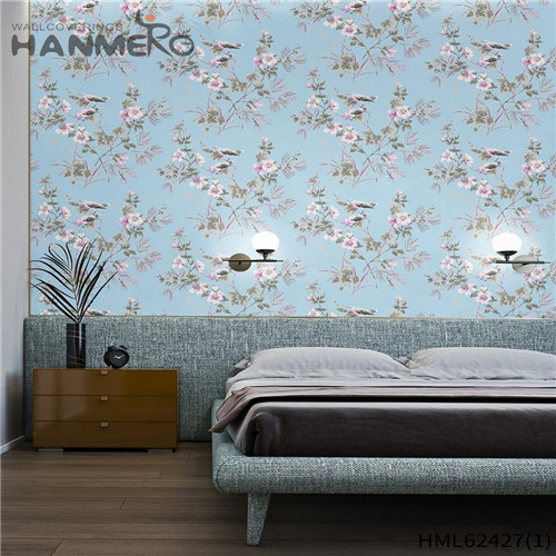 HANMERO wallpaper on wall design Hot Sex Flowers Flocking Classic Sofa background 0.53*10M Non-woven