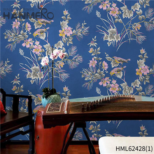 HANMERO bedroom design with wallpaper Hot Sex Flowers Flocking Classic Sofa background 0.53*10M Non-woven