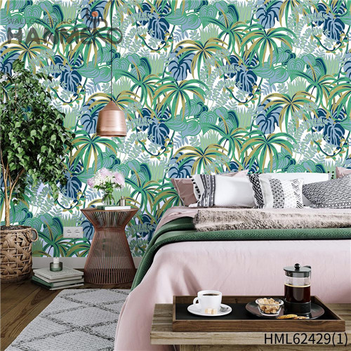 HANMERO hanging wallpaper Hot Sex Flowers Flocking Classic Sofa background 0.53*10M Non-woven