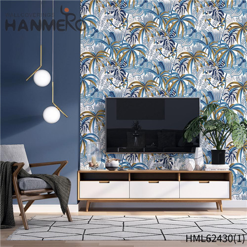 HANMERO pictures for wallpaper Hot Sex Flowers Flocking Classic Sofa background 0.53*10M Non-woven