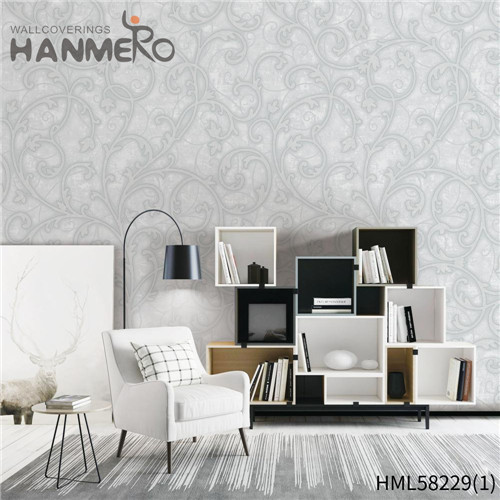 HANMERO PVC Professional Supplier Flowers Flocking wallpaper online shop Church 0.53*10M Modern
